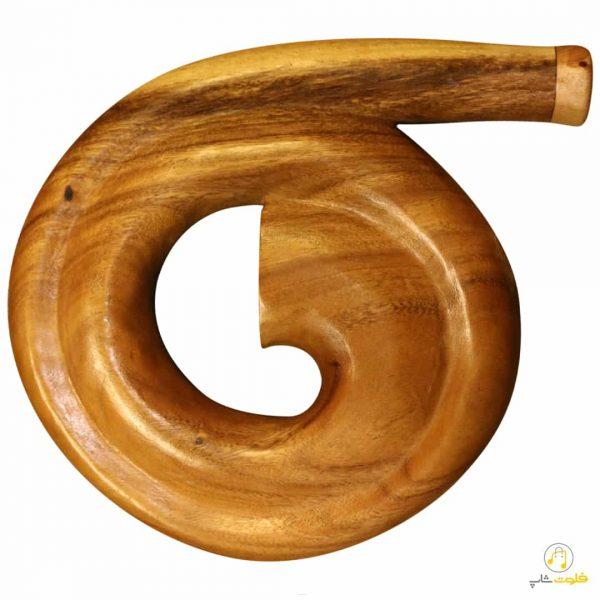 دیجریدو حلزونی اسپیرال (دست ساز) با چوب اکالیپتوس